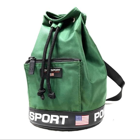 Vintage Polo Sport Drawstring Bucket Bag. M 5b3b2022a5d7c658394af9be aabd1fed04abb
